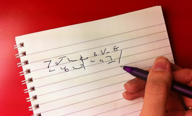 shorthand writing